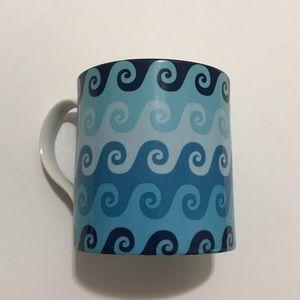 JONATHAN ADLER Carnaby Waves Blue Coffee Mug
